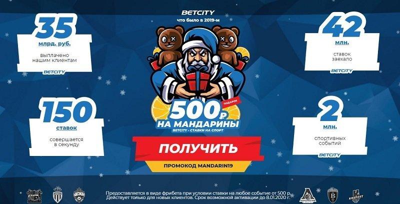 betcity новогодняя акция
